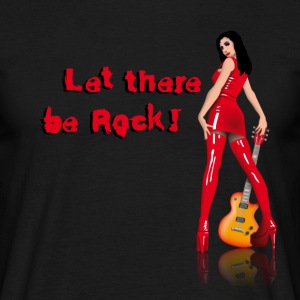 Schwarz rock_babe_a_let_there_be_rock T-Shirts - Männer T-Shirt