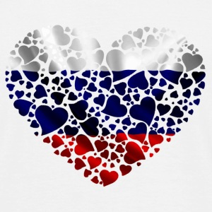 flag russia heart Tee shirts - T-shirt Homme