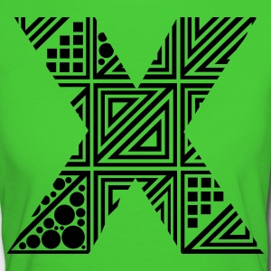 Light green letter X Organic Products - Women's Organic T-shirt