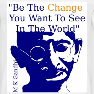 White Gandhi - Be the Change Men's T-Shirts - Men's T-Shirt