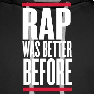 Black rap was better before Jumpers - Men's Premium Hoodie