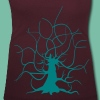 T-shirt femme ajusté arbre Racines Brocéliande Spirit - T-shirt col U Femme