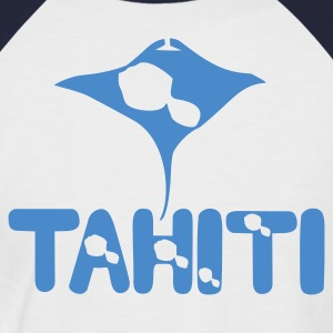 TAHITI T-shirt & MANTA TATTOO - T-shirt baseball manches courtes Homme