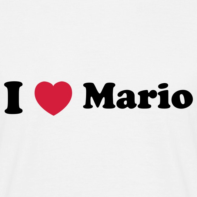 I love Mario Tshirt