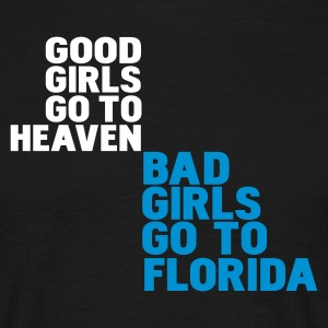 Zwart bad girls go to florida T-shirts - Mannen T-shirt