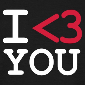 Zwart I LOVE YOU T-shirts - Mannen T-shirt