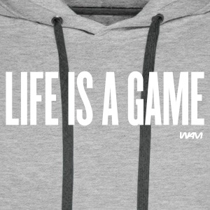 Grau meliert life is a game by wam Pullover - Männer Premium Hoodie