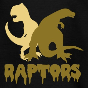 Schwarz Raptors Kinder T-Shirts - Teenager T-Shirt