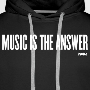 Nero music is the answer by wam Pullover - Felpa con cappuccio premium da uomo