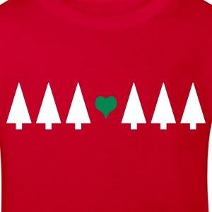 Christmas Tree Heart - Kids' Organic T-shirt