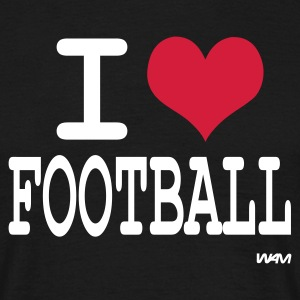 Black i love football by wam Men's T-Shirts - Men's T-Shirt