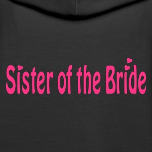 Schwarz Sister of the Bride Pullover - Frauen Premium Hoodie