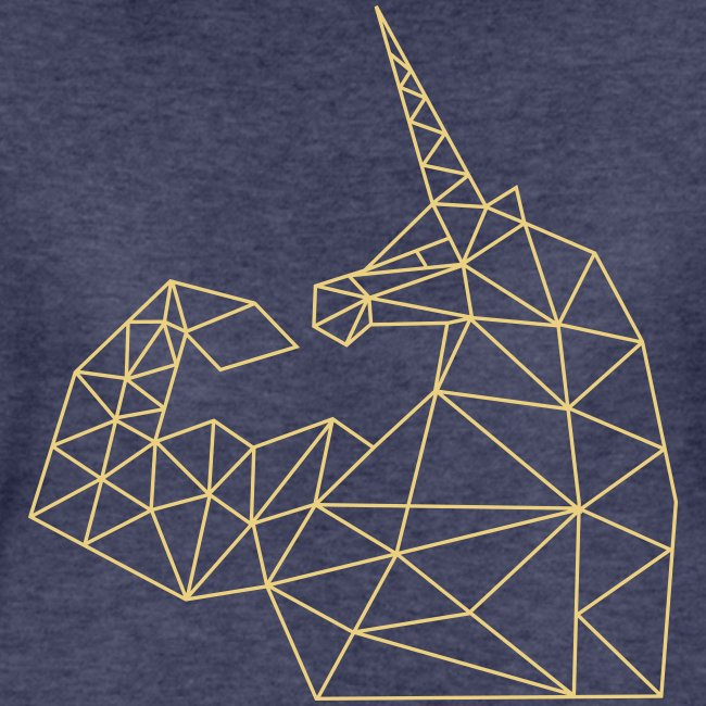 Bizepseinhorn Gitter-Design: Frauen Premium T-Shirt