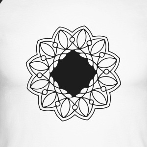 Indian mandala t-shirt - Men's Long Sleeve Baseball T-Shirt