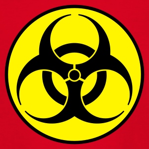 Rot biohazard 2 color DE Kinder T-Shirts - Teenager T-Shirt