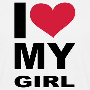 I love my Girl, Girl, Girlfriend, Partner, Beziehung, Sex, Liebe, Love, eushirt.com - Männer T-Shirt