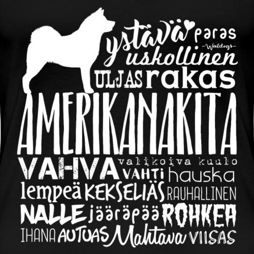 Amerikanakita - Sanat Valkea