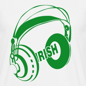 White Irish Headphones Men's T-Shirts - Men's T-Shirt