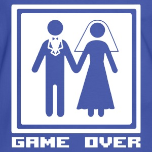 Blau/weiß Fun: Wedding: Game Over - The end of life T-Shirts - Männer Kontrast-T-Shirt