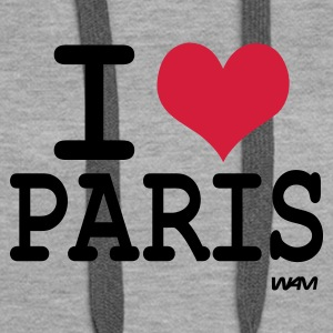 Gråmelert i love paris by wam Gensere - Premium hettegenser for kvinner