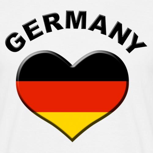 Heart for Germany Herz Deutschland Fahne Flagge