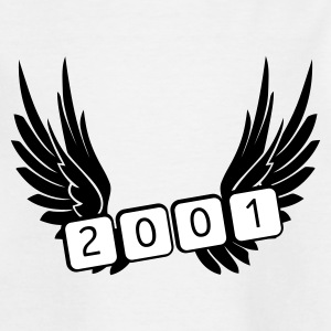 Weiß geboren 2001 Kinder T-Shirts - Teenager T-Shirt