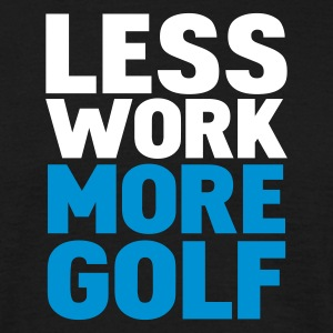 Sort less work more golf T-shirts - Herre-T-shirt
