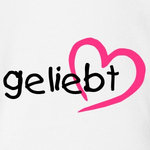Baby-Body: Geliebt - Baby Bio-Kurzarm-Body