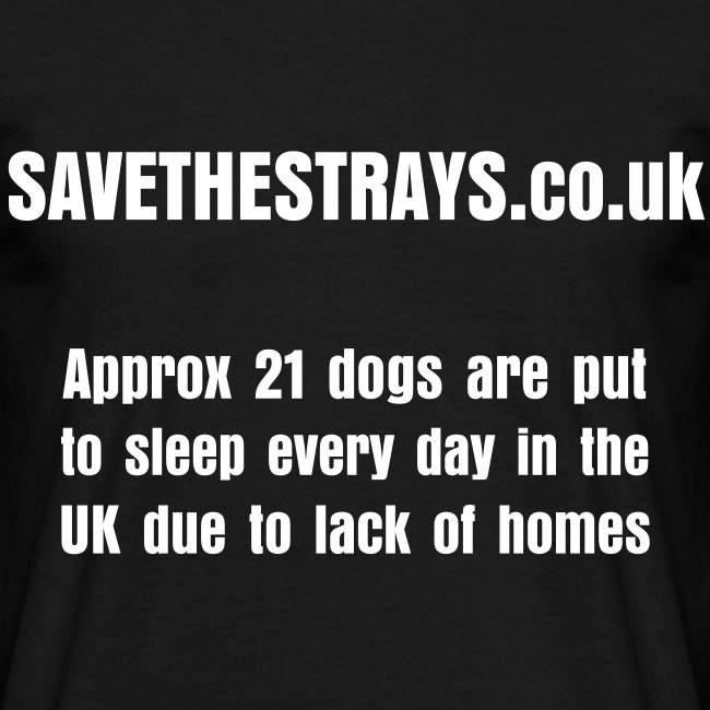Mens 'Approx 21 dogs...' t-shirt (front design)