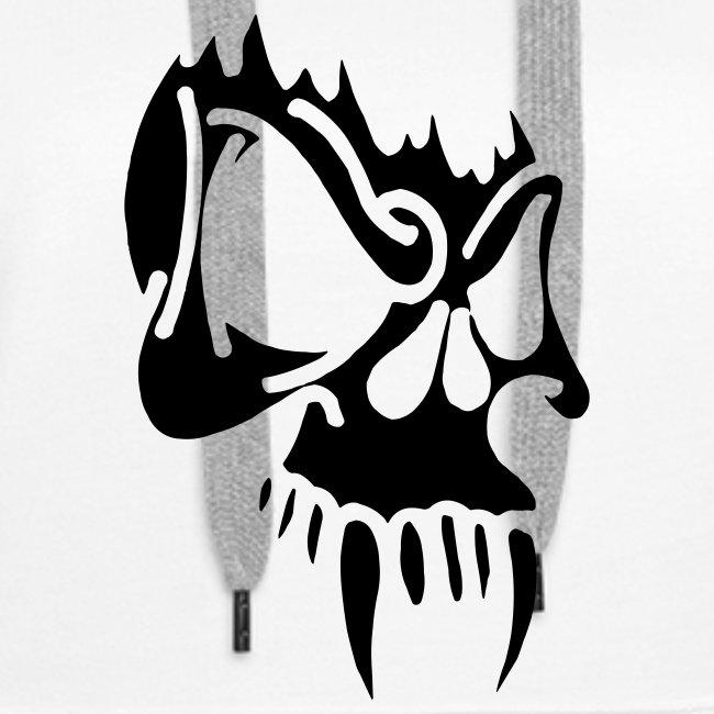 Evil Skull, Hood (black)