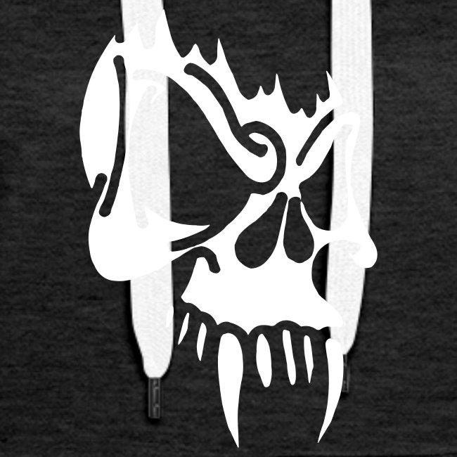 Evil Skull, Hood (white)