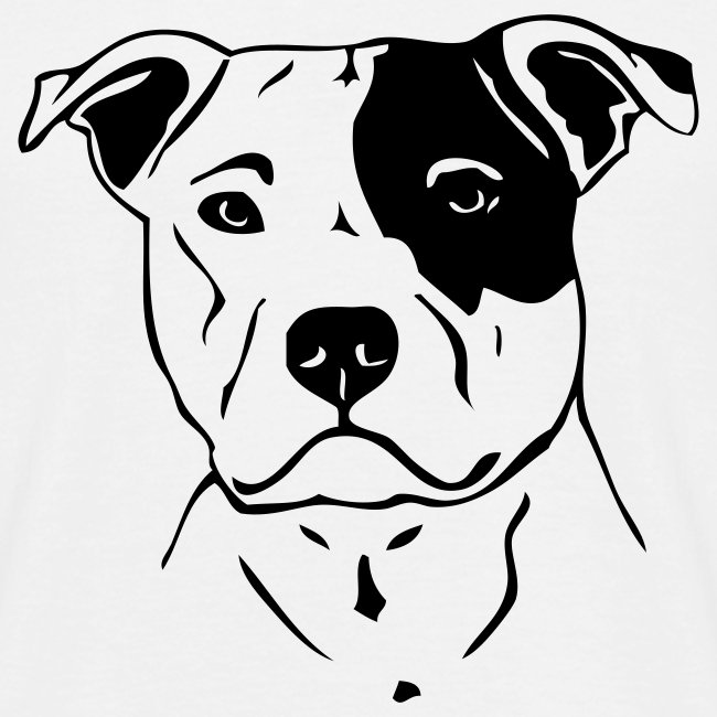 Mens Bull Terrier Head T-Shirt