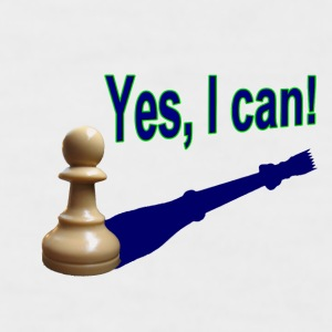 Weiß/navy Yes, I can! 1 T-Shirts - Männer Baseball-T-Shirt