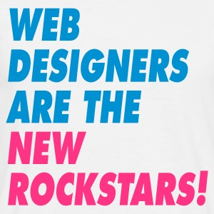 Web Designers Are The New Rockstars T-shirts - Mannen T-shirt
