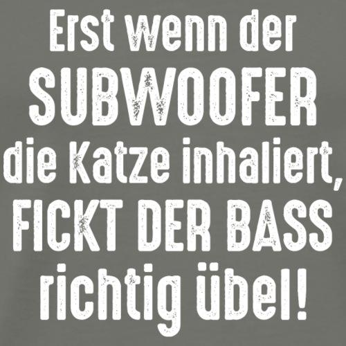 Subwoofer-Katze-Spruch der Bass fickt richtig übel