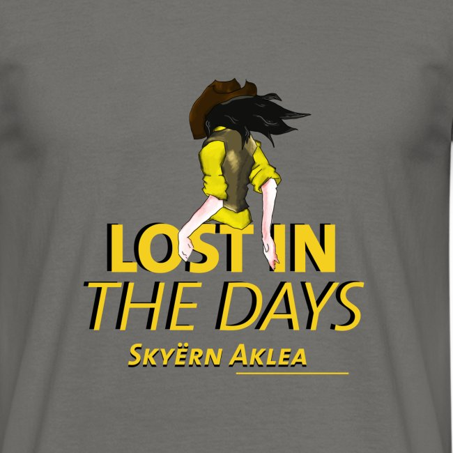 T-SHIRT COWBOY MAN LOST IN THE DAYS