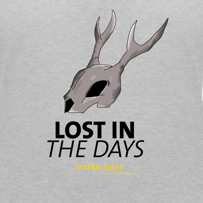 T-SHIRT SKULL WOMAN LOST IN THE DAYS