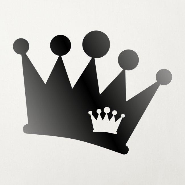 Doppel Krone schwarz