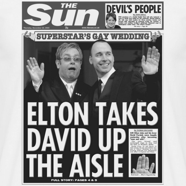 Elton Takes David Up The Aisle
