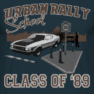 Navy Urban Rally School Men's T-Shirts - Men's T-Shirt
