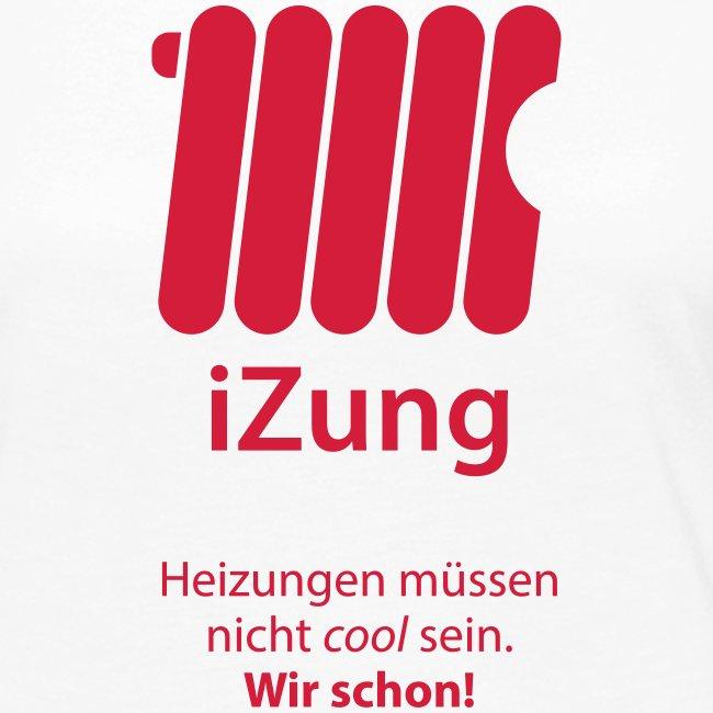 iZung für Frauen   Langarm-Shirt- Flexdruck