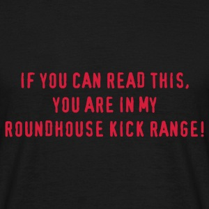 Noir roundhousekick T-shirts - T-shirt Homme