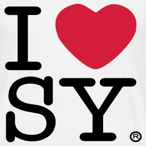 I heart SY (men's t-shirt) - Men's T-Shirt