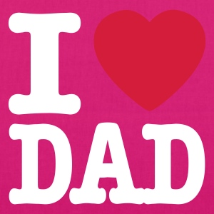 Nero i love dad IT Borse - Borsa ecologica in tessuto