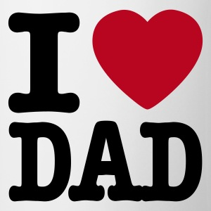Wit i love dad NL Mokken - Mok