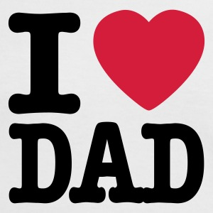 Weiß/rot i love dad DE T-Shirts - Frauen Kontrast-T-Shirt
