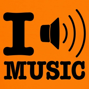 Orange/noir I love music / I speaker music FR T-shirts - T-shirt contraste Homme