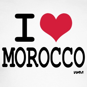 Blanc/noir j'aime le maroc - i love morocco by wam T-shirts manches longues - T-shirt baseball manches longues Homme