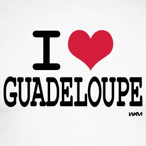 Blanc/noir i love la guadeloupe by wam T-shirts manches longues - T-shirt baseball manches longues Homme