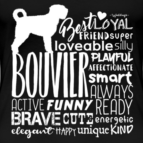 Bouvier Words White